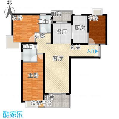 绿洲湖畔花园136.00㎡上海绿洲中环中心(绿洲湖畔花面积13600m户型