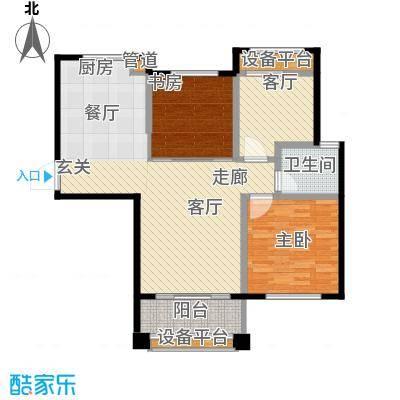 盈嘉香榴湾87.00㎡面积8700m户型