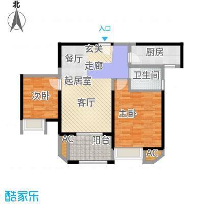 苏宁睿城89.00㎡二期7、8栋标准面积8900m户型