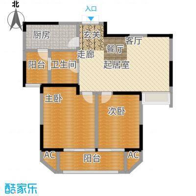 苏宁睿城85.00㎡三期10号楼标准面积8500m户型