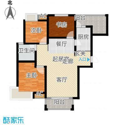 江佑铂庭114.00㎡面积11400m户型