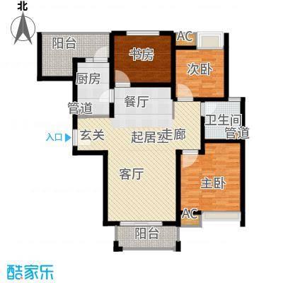 江佑铂庭115.00㎡面积11500m户型