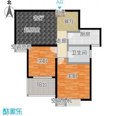 文鼎雅苑87.00㎡16号楼标准层G户面积8700m户型