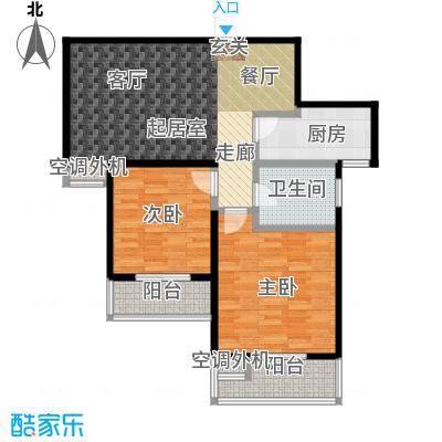 文鼎雅苑86.00㎡16号楼标准层K户面积8600m户型