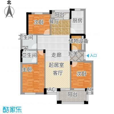 金御华庭111.00㎡2面积11100m户型