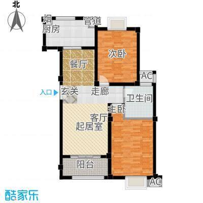 金御华庭97.00㎡15、16号楼A1户面积9700m户型
