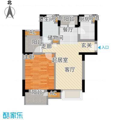 中翔丽晶54.00㎡面积5400m户型