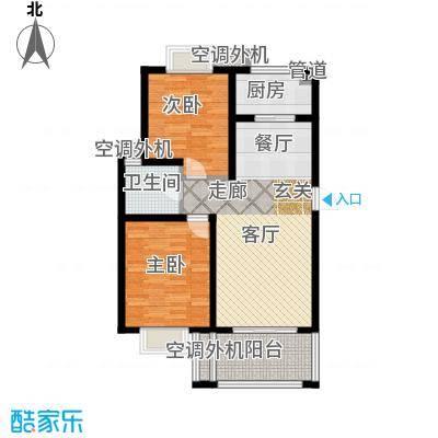 兰亭雅苑90.00㎡三期17号楼2-6层面积9000m户型