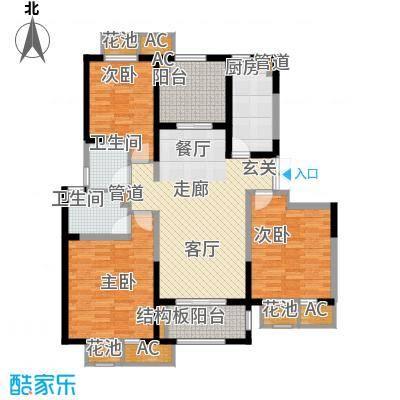 置地青湖语城118.80㎡一期3#D面积11880m户型