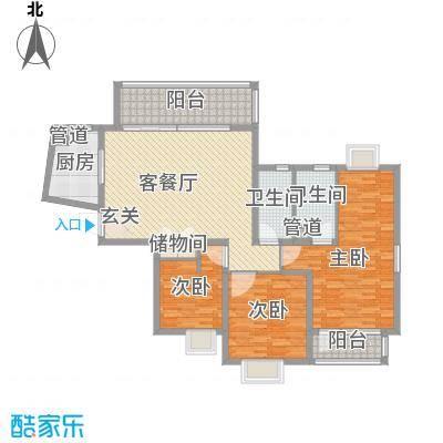 万科金色家园154.41㎡面积15441m户型