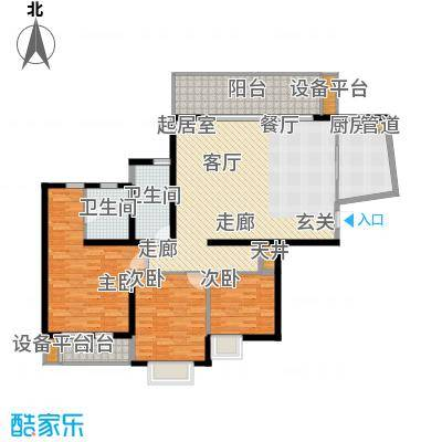 万科金色家园136.09㎡面积13609m户型