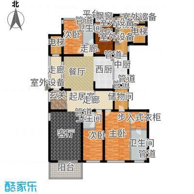 万科国际广场220.00㎡高层6#7#标面积22000m户型