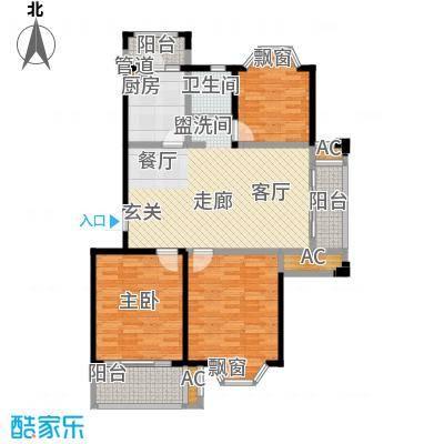凯阳花园101.00㎡二期6、11、12幢标准层F户型