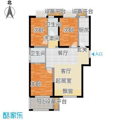 荣盛莉湖春晓94.94㎡北苑7幢标准层F11户型
