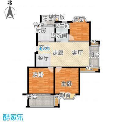 凯阳花园110.00㎡二期6、11、12幢标准层D户型