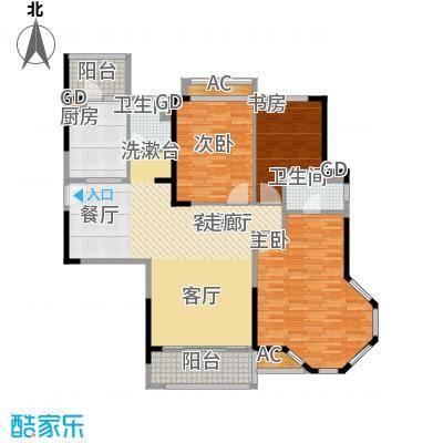 碧桂园欧洲城136.00㎡三期依云小镇标准层J175A户型