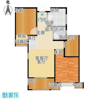 金地自在城83.00㎡四期尚层别院5号楼标准层B2-3户型