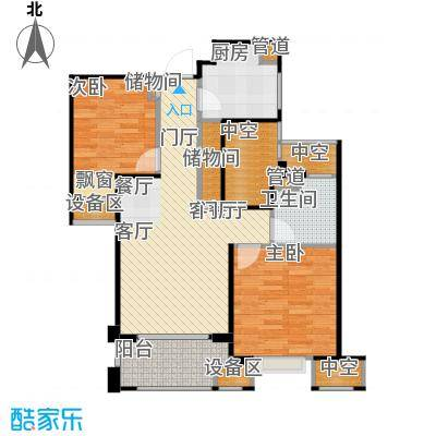 金地自在城85.00㎡六期优贤公馆3、4号楼标准层名仕雅筑户型