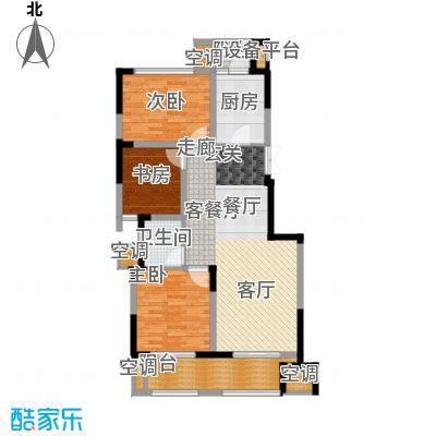 高科荣境95.00㎡二期17、20-21、26-32幢标准层F改造后户型