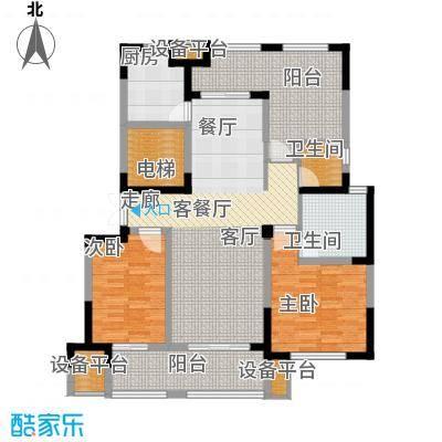 高科荣境124.00㎡二期17、20-21、26-32幢标准层B户型