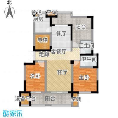 高科荣境118.00㎡二期17、20-21、26-32幢标准层D户型