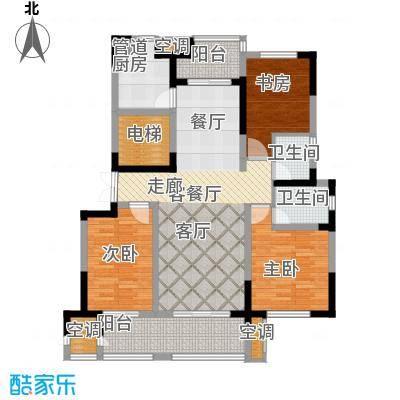 高科荣境118.00㎡二期17、20-21、26-32幢标准层D改造后户型