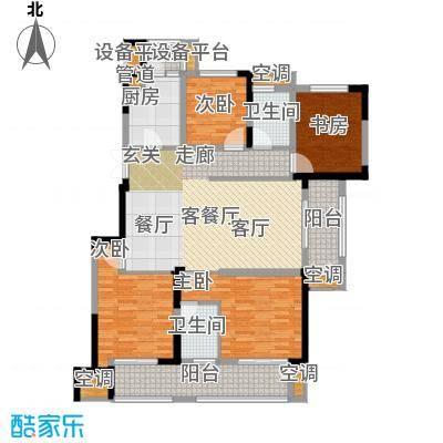 高科荣境130.00㎡二期17、20-21、26-32幢标准层B1改造后户型