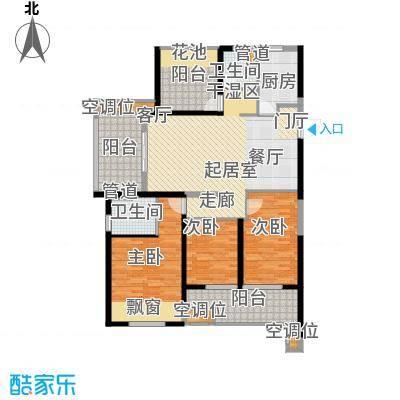 新城玖珑湖135.00㎡二期10#楼标准层D1户型