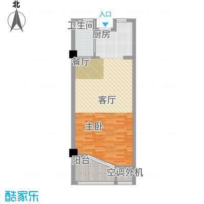 中浩学府风景55.00㎡A1面积5500m户型
