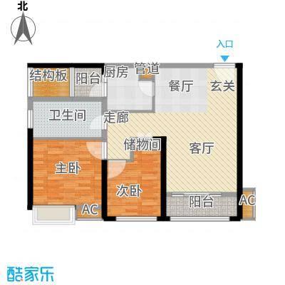 南京万达广场89.00㎡2面积8900m户型