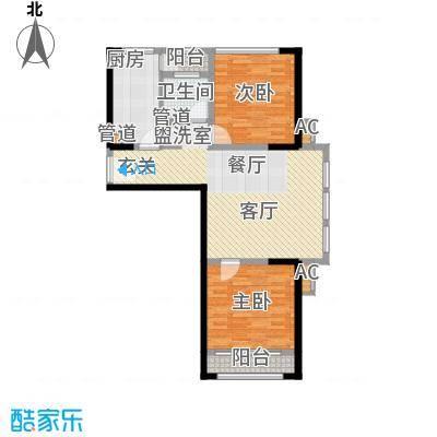 南京万达广场88.00㎡2面积8800m户型