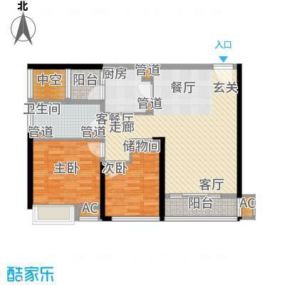 南京万达广场89.00㎡面积8900m户型