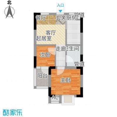 万汇新城经济适用房55.00㎡小套住房户型