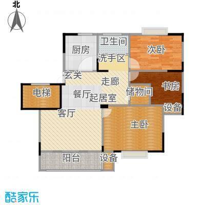 福基九龙新城90.00㎡一期30-32号楼标准层C1户型
