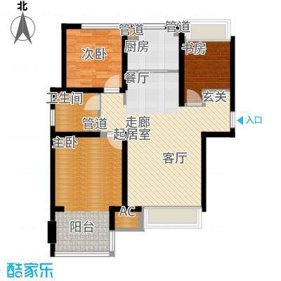 朗诗未来街区85.00㎡二期高层20面积8500m户型
