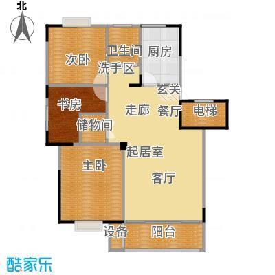福基九龙新城101.00㎡一期30-32号楼标准层C1-1户型