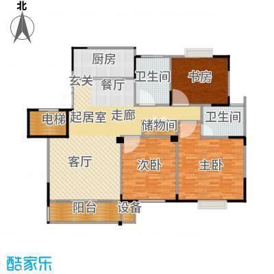 福基九龙新城121.00㎡一期30-32号楼标准层C2户型