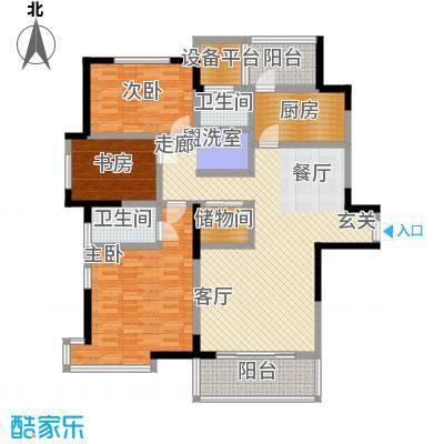 长江峰景130.46㎡一期5号楼标准层A1户型