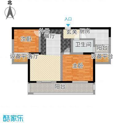 长江峰景97.95㎡一期5号楼标准层B1户型