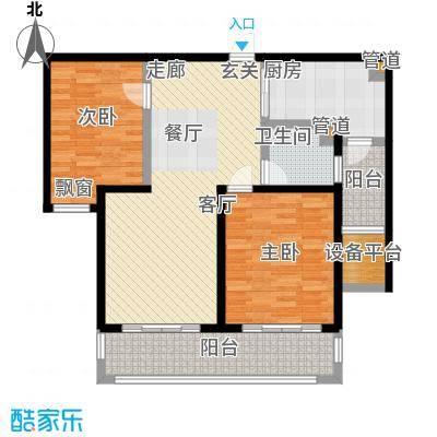 长江峰景97.00㎡一期3号楼标准层B户型