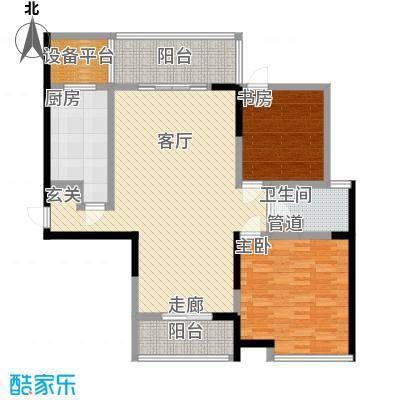长江峰景115.12㎡一期5号楼标准层C1户型