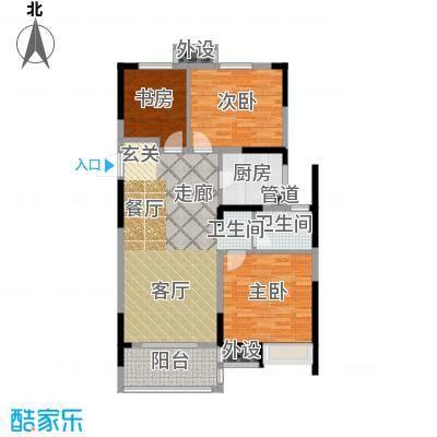 中海万锦熙岸95.00㎡二期中心楼王标准层B1户型