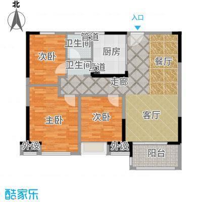 中海万锦熙岸95.00㎡一期12#02层A5户型
