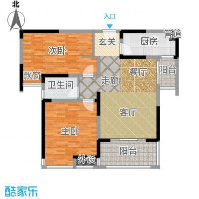 中海万锦熙岸90.00㎡一期标准层A2户型