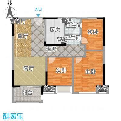 中海万锦熙岸95.00㎡一期12#03层A6户型