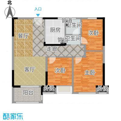 中海万锦熙岸95.00㎡一期12#07层A2户型