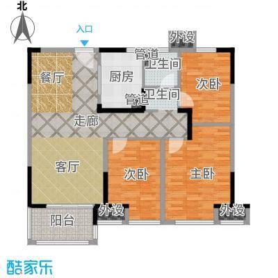 中海万锦熙岸95.32㎡一期13幢标准层B8户型
