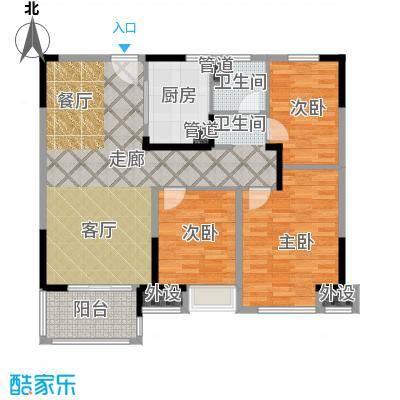 中海万锦熙岸95.00㎡一期11#0户型