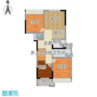 晓庄国际广场113.00㎡一期2、3栋标准层E户型