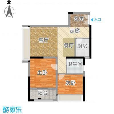 晓庄国际广场85.00㎡一期2、3栋标准层B户型